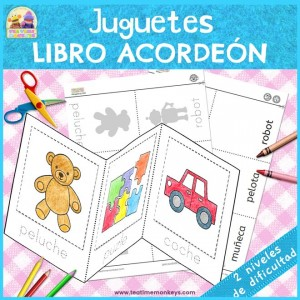 Juguetes - Libro Acordeón - Imprimible gratis - Tea Time Monkeys