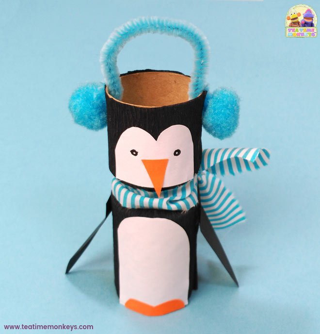 Toilet Roll Christmas Craft - Penguin - Tea Time Monkeys
