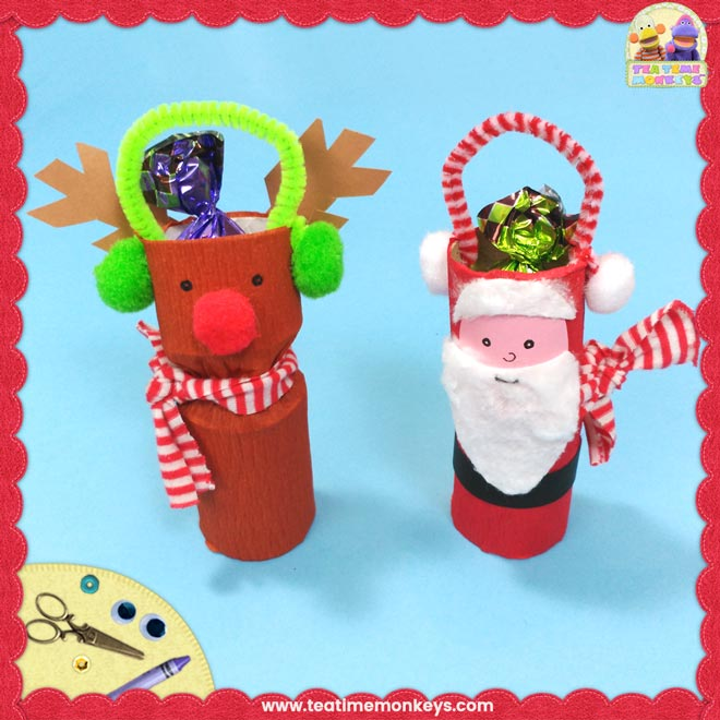 Toilet Roll Christmas Craft - Tea Time Monkeys