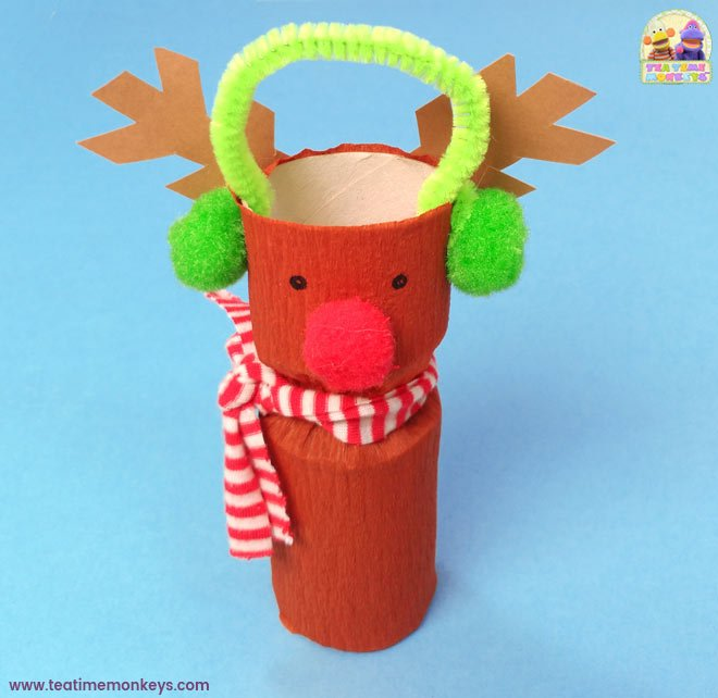 Toilet Roll Christmas Craft - Rudolph - Tea Time Monkeys