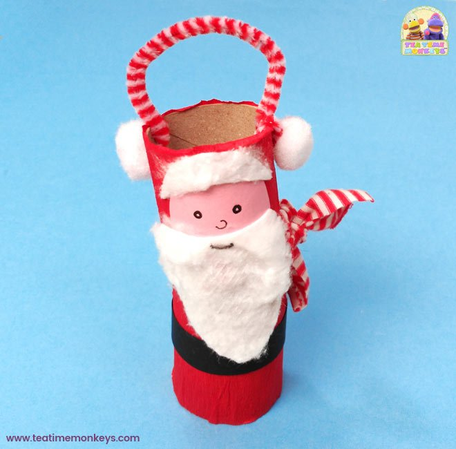 Toilet Roll Christmas Craft - Santa - Tea Time Monkeys