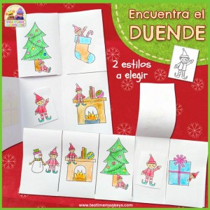 Elf on the Shelf –Encuentra el Duende Navideño! Imprimible - Tea Time Monkeys