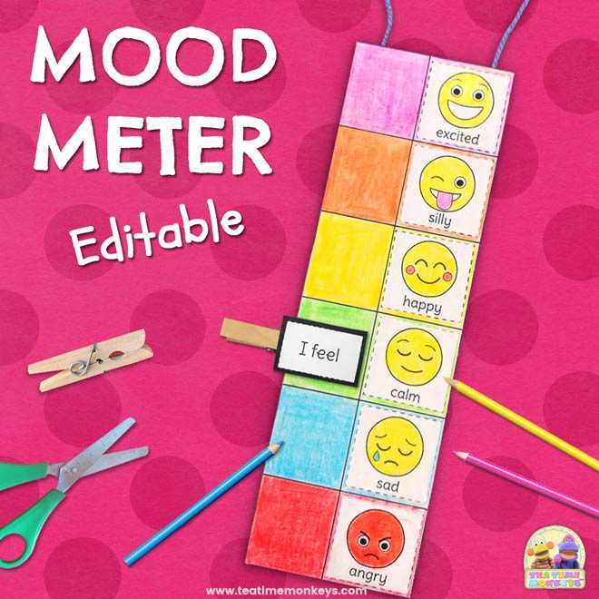 Editable Mood Meter Clip Card