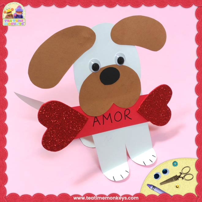 Perrito Cariñoso - Manualidad para San Valentín - Tea Time Monkeys