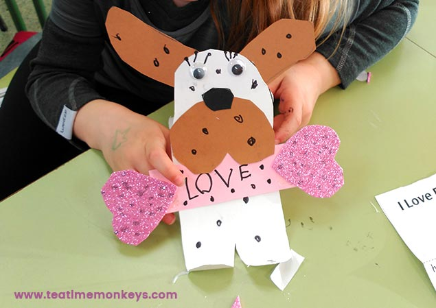 Puppy Love - Valentine's Craft - Tea Time Monkeys