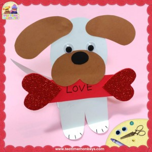 Puppy Love - Easy Valentine Craft - Tea Time Monkeys