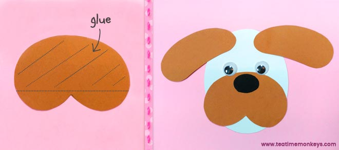 Puppy Love - Easy Valentine Craft - Step 2 - Tea Time Monkeys