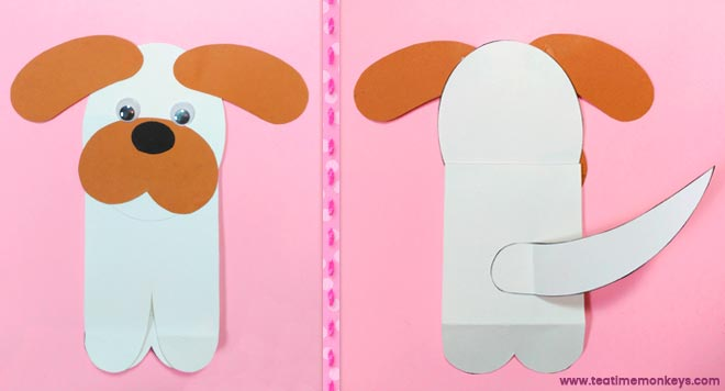 Puppy Love - Easy Valentine Craft - Step 5 - Tea Time Monkeys