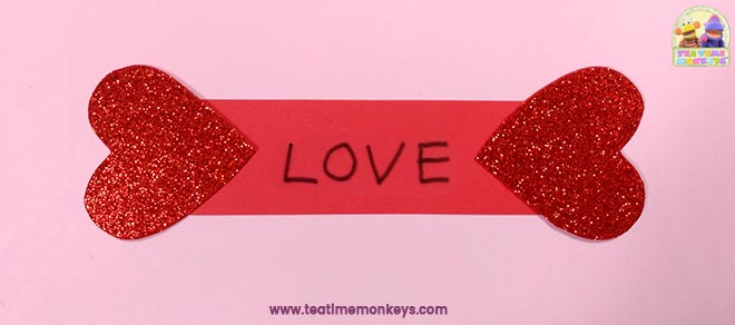 Puppy Love - Easy Valentine Craft - Step 6 - Tea Time Monkeys