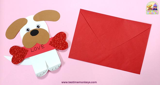 Puppy Love - Easy Valentine Craft - Step 9 - Tea Time Monkeys