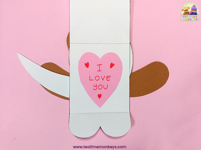 Puppy Love - Easy Valentine Craft - Step 8 - Tea Time Monkeys