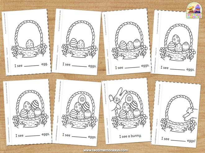 Easter Counting Mini Book - Free Printable - Tea Time Monkeys