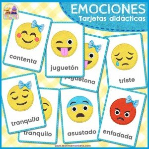 Tarjetas Didácticas de Emociones - Tea Time Monkeys