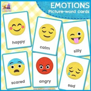 Emotions Flashcards - Tea Time Monkeys