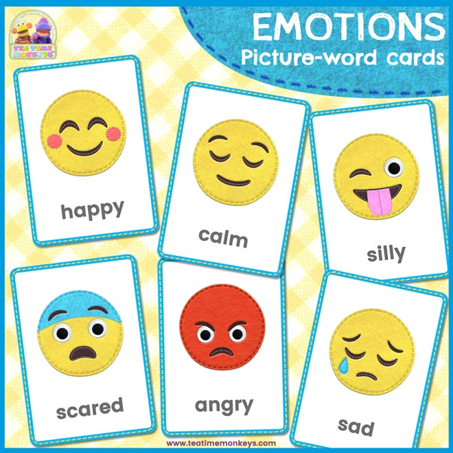 Emoji Emotions Flashcards