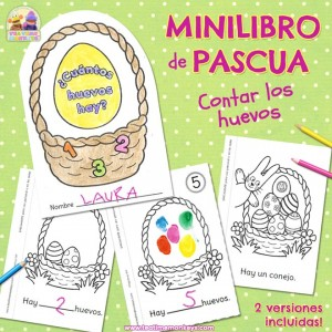Mini Libro de Pascua - Imprimible Gratis - Tea Time Monkeys