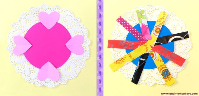 Pretty Doily Flower - Mother's Day Craft - Step 3 - Tea Time Monkeys