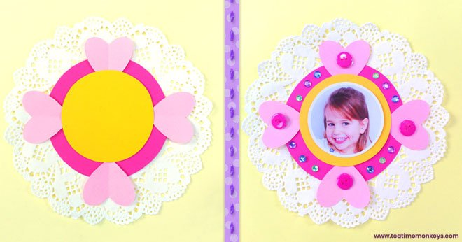 Pretty Doily Flower - Mother's Day Craft - Step 4 - Tea Time Monkeys