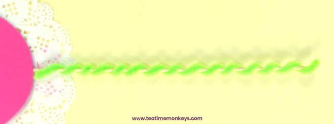 Pretty Doily Flower - Mother's Day Craft - Step 7 - Tea Time Monkeys