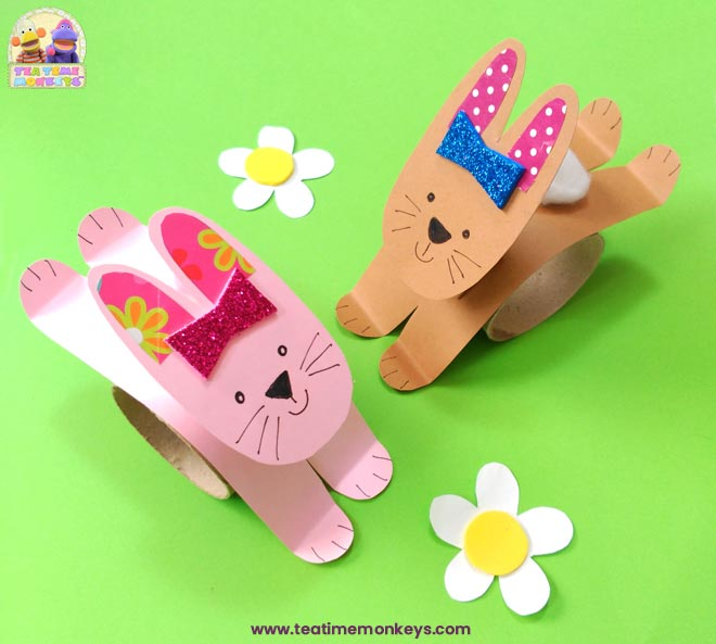 Hopping Bunny Rabbit Craft - finished - Tea Time Monkeys