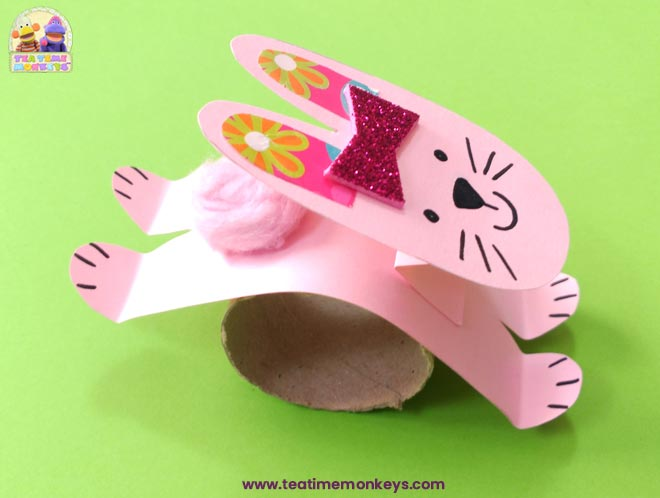 Hopping Bunny Rabbit Craft - Step 7 - Tea Time Monkeys