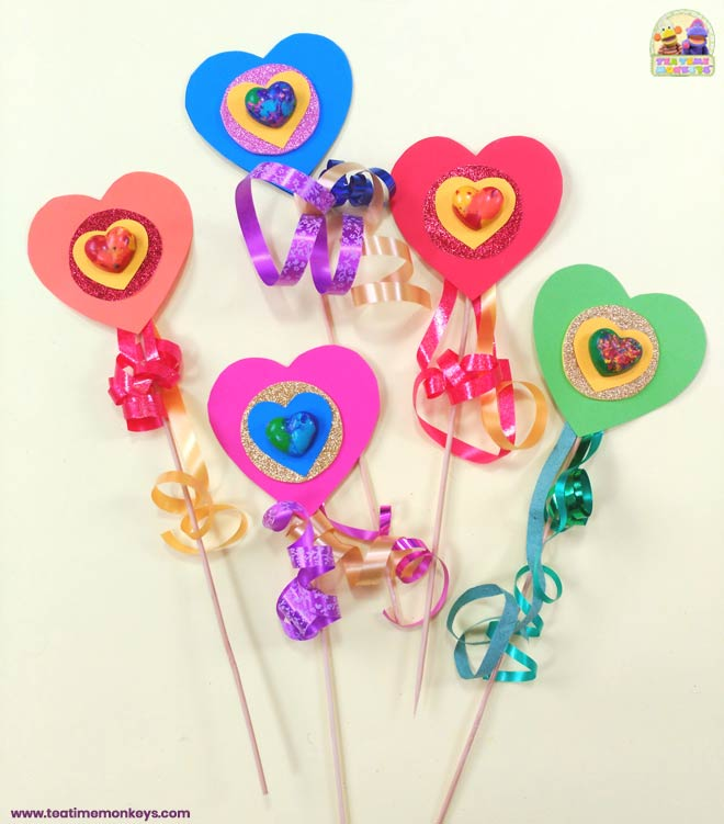 Melted Crayon Hearts Craft – - Tea Time Monkeys