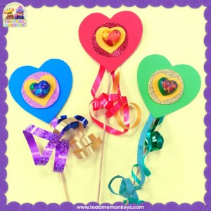 Melted Crayon Hearts Craft – End of Year Gift or Party Token for Kids - Tea Time Monkeys
