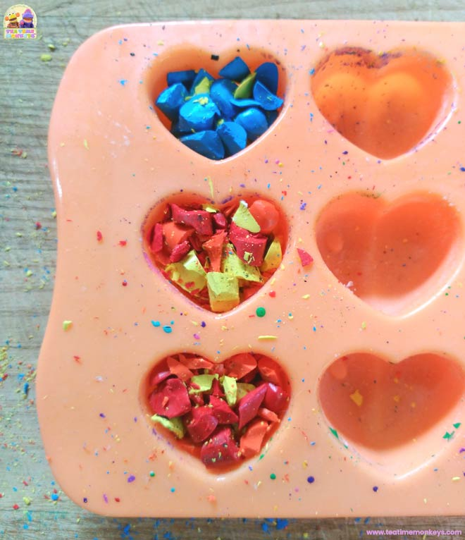 Melted Crayon Hearts Craft – Step 2 - Tea Time Monkeys