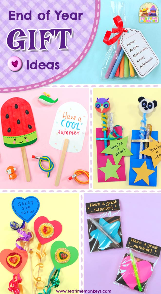 Inexpensive End of Year Gifts for Students - Tea Time Monkeys