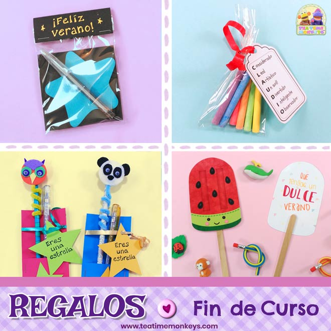Ideas de Regalos de Fin de Curso para Niños - Tea Time Monkeys