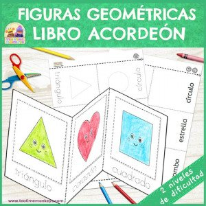 Figuras Geométricas - Libro Acordeón - Imprimible Gratis - Tea Time Monkeys