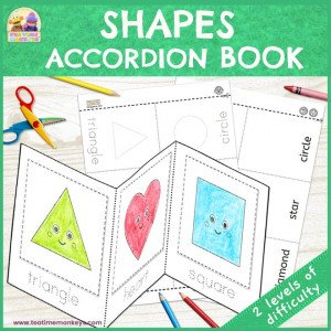 Shapes Accordion Book - Free Printable - Tea Time Monkeys