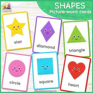 Shapes Flashcards - Free Printable - Tea Time Monkeys