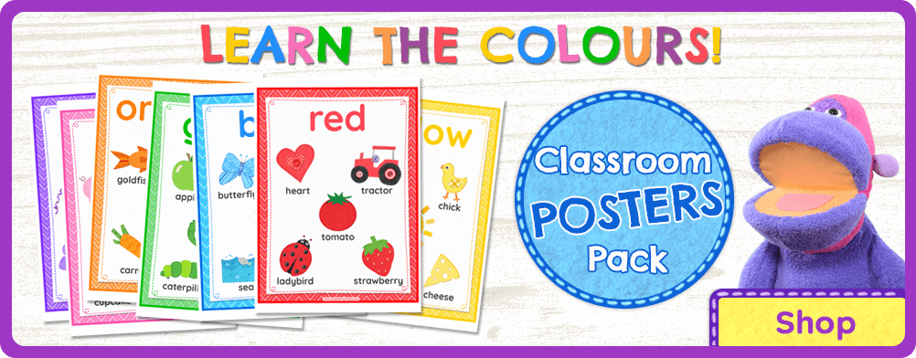 Learn the Colors Classroom Posters - Tea Time Monkeys