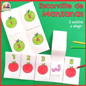 Manzanas Escondite - Imprimible Gratis - Tea Time Monkeys