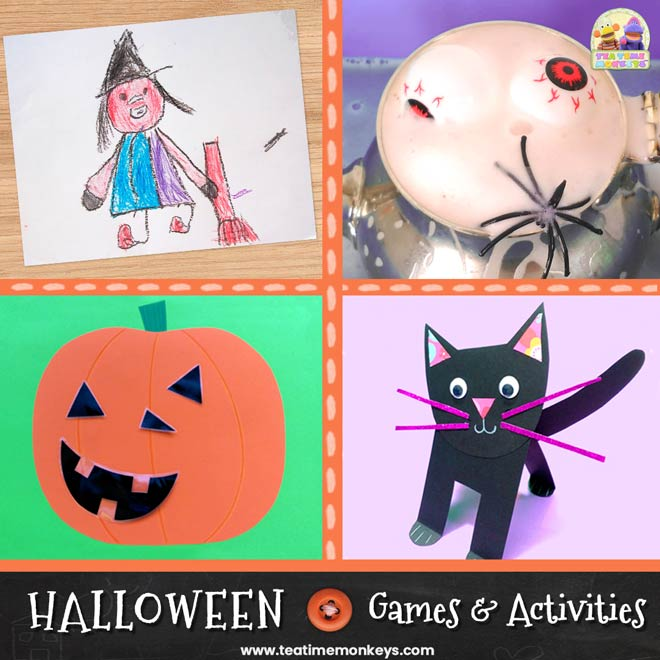 Fun Halloween Activities and Games for kids - Tea Time Monkeys