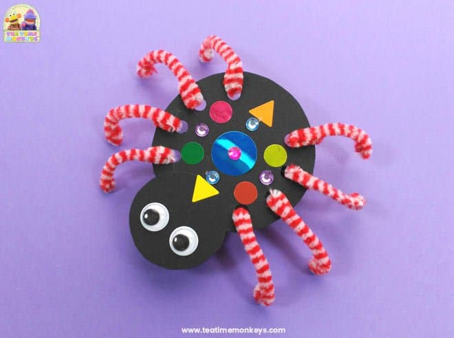 Crawling Spider Craft - Step 6 - Tea Time Monkeys