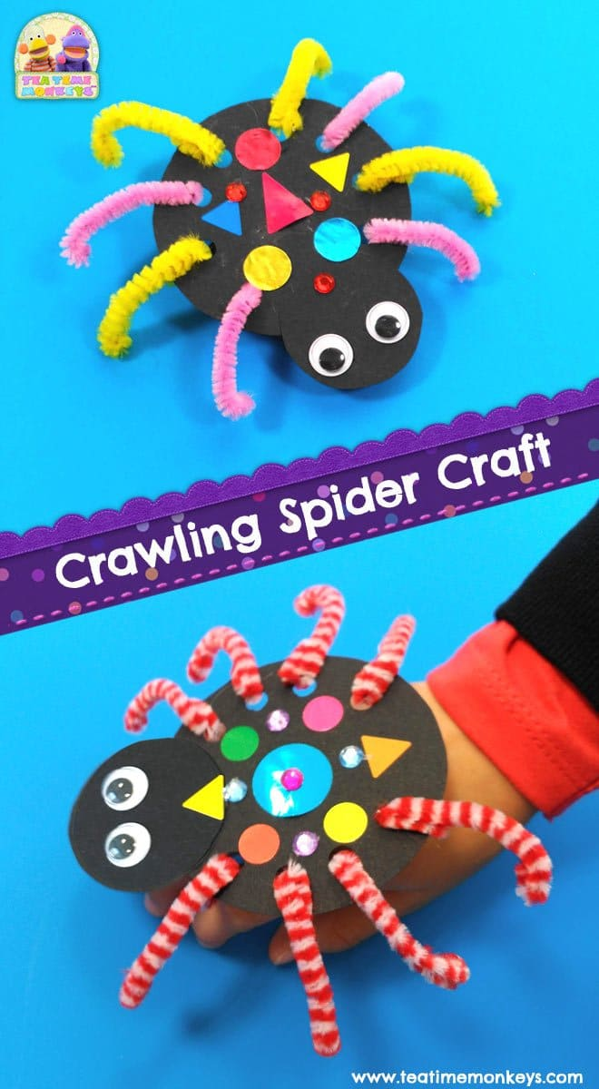 Crawling Spider Craft - Tea Time Monkeys