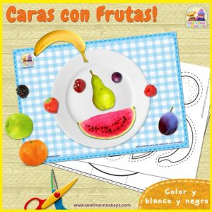 Caras con Frutas – Imprimible Gratis - Tea Time Monkeys