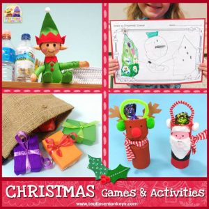 Fun ESL Christmas activities for preschool and primary - Tea Time Monkeys
