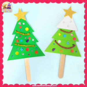 Easy Christmas Tree Craft - Tea Time Monkeys