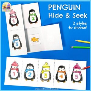 Hide and Seek Penguin Printable - Free Printable - Tea Time Monkeys