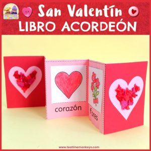 Mini Libro Imprimible para San Valentín - Tea Time Monkeys