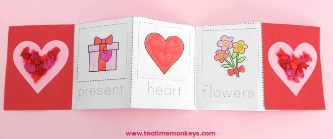 Valentine's Day Printable Mini Book - Tea Time Monkeys