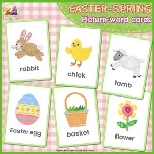 Easter-Spring Flashcards- Free Printable - Tea Time Monkeys