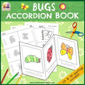 Bugs Mini Book - Accordion Book - Free Printable - Tea Time Monkeys