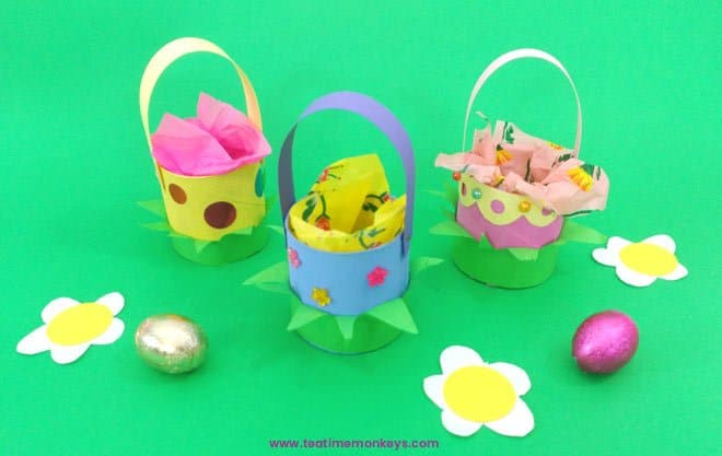 Bunny Basket - Easter Craft for Kids -Tea Time Monkeys