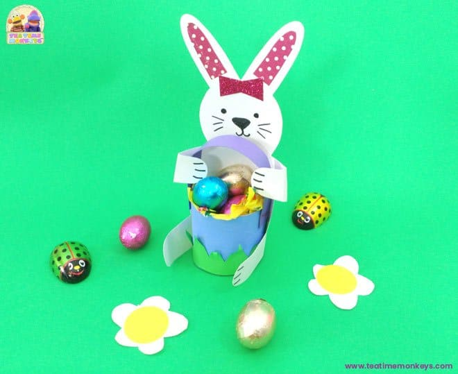 Bunny Basket - Easter craft for kids - Tea Time Monkeys
