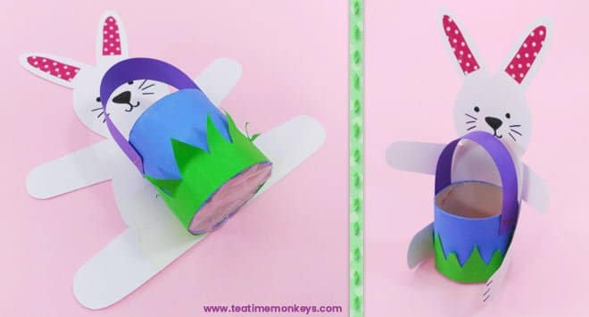 Bunny Basket - Easter craft for kids - Step 10 -Tea Time Monkeys