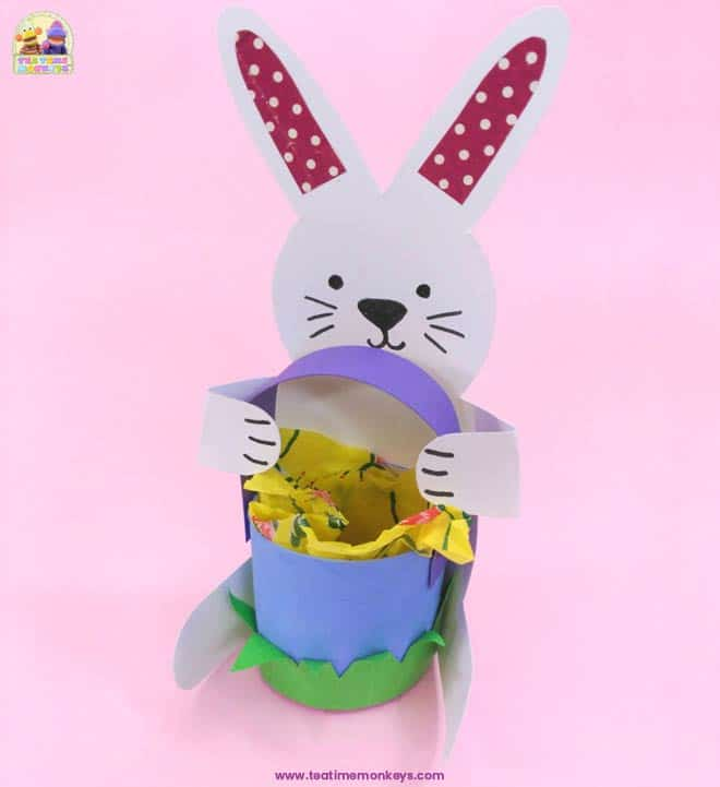 Bunny Basket - Easter craft for kids - Step 11 -Tea Time Monkeys